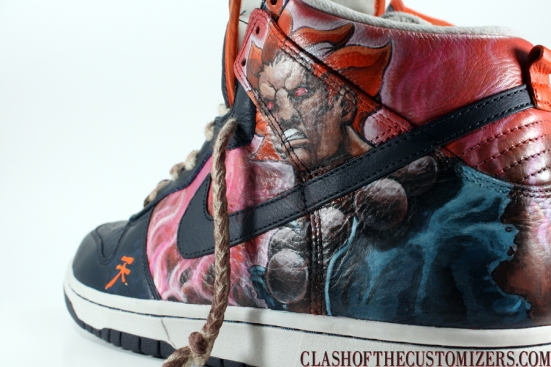 "reputable site 53a58 b9850 Custom Akuma Nike Dunks – ""DAWN OF DARKNESS""   The Gamer With Kids"