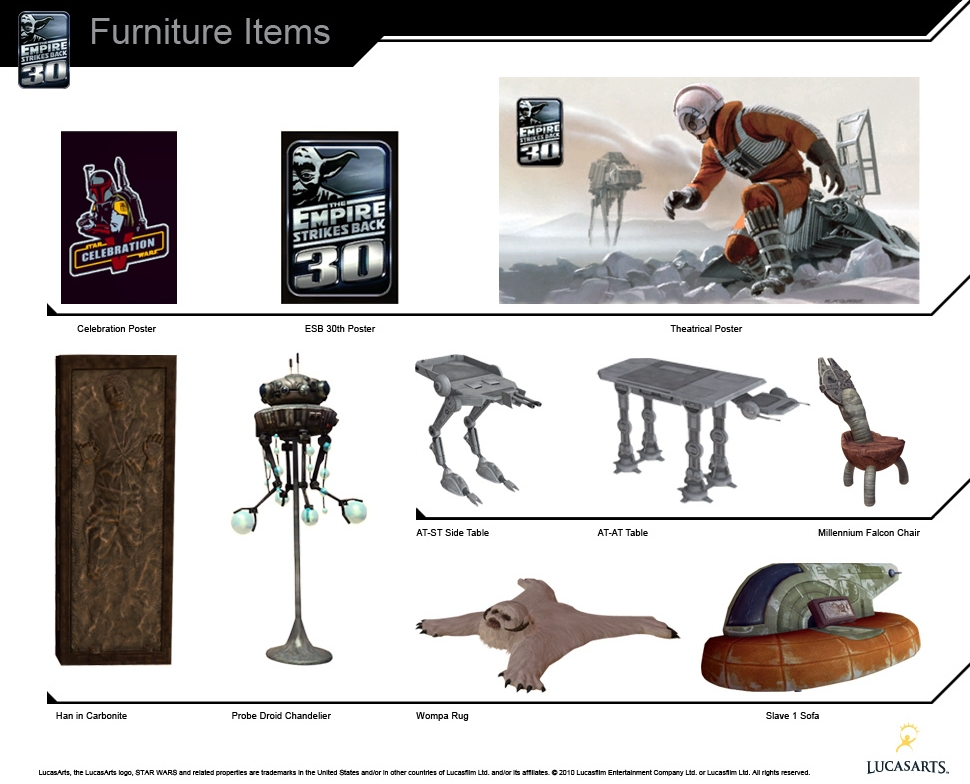 Star Wars V: The Empire Strikes Back 30th Anniversary PlayStation Home  Furniture