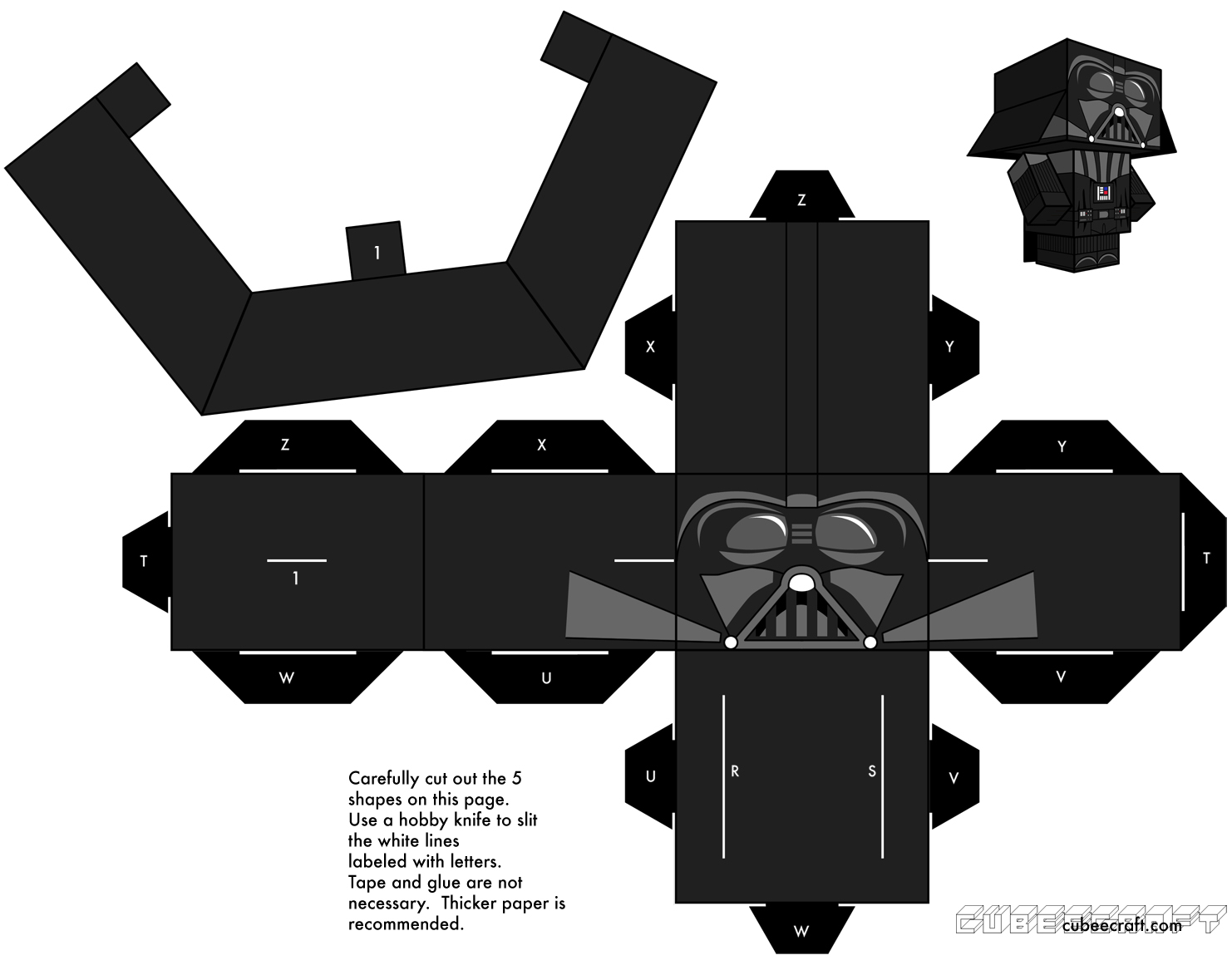 build your own cubecraft darth vader star wars the gamer with kids. Black Bedroom Furniture Sets. Home Design Ideas