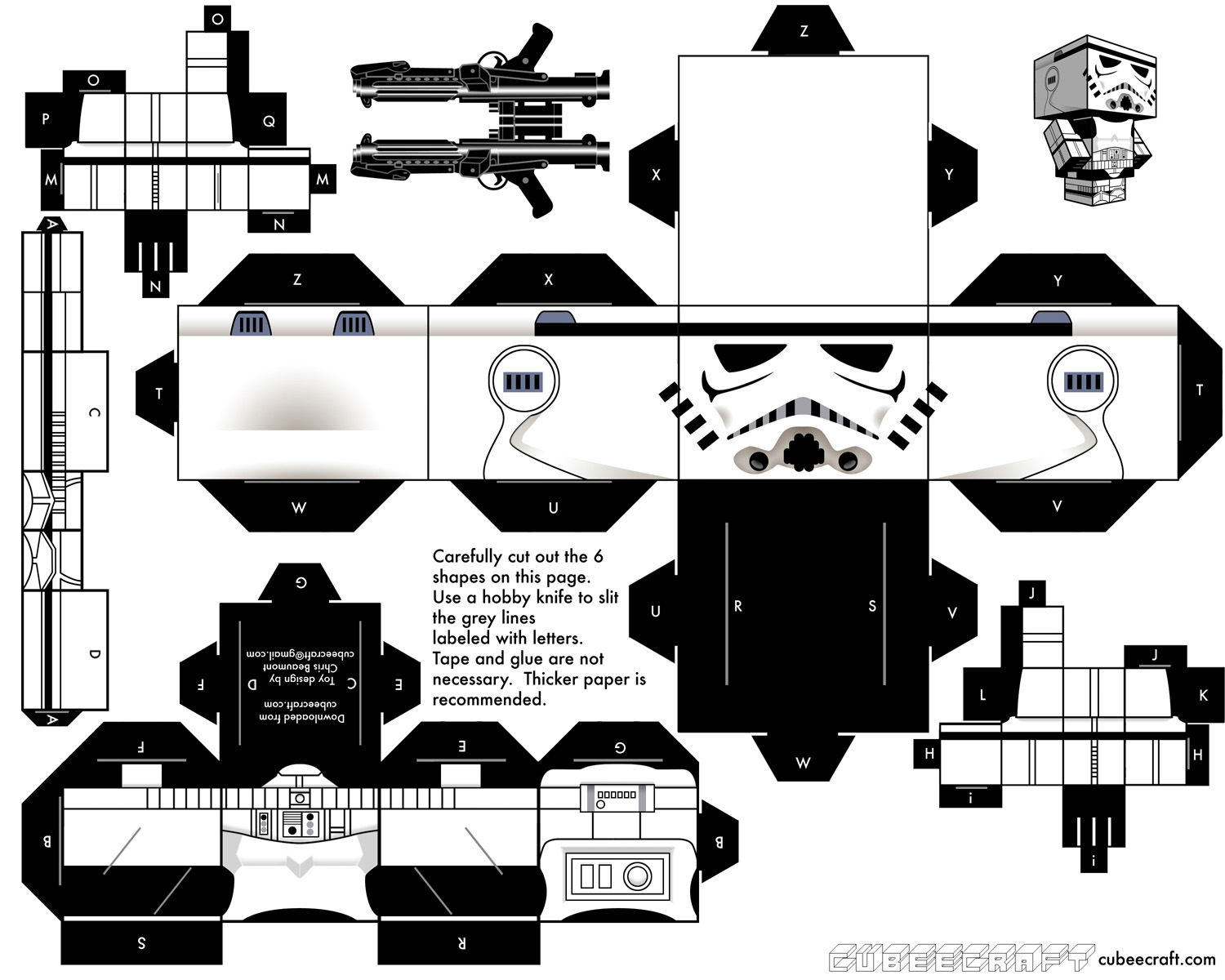 build your own cubecraft stormtrooper star wars the gamer with kids. Black Bedroom Furniture Sets. Home Design Ideas