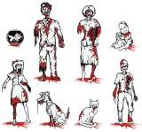Zombie Family Car Decals at ThinkGeek