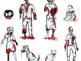 Zombie Family Car Decals atThinkGeek
