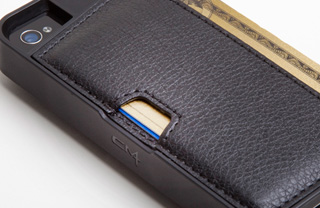 CM4 Q4 BLACK iPhone Wallet Card Case