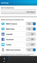 BlackBerry Z10 Tip: How to Hide Unwanted Social Network Entries in ContactsApp