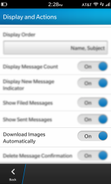 BlackBerry Z10 Tip: How to Display Images Automatically in Emails