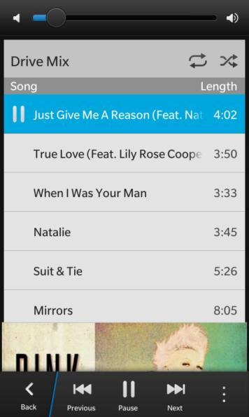 BlackBerry Music App