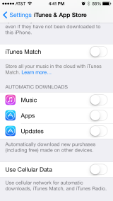 iOS7 Tip: Enable or Disable Automatic App Updates
