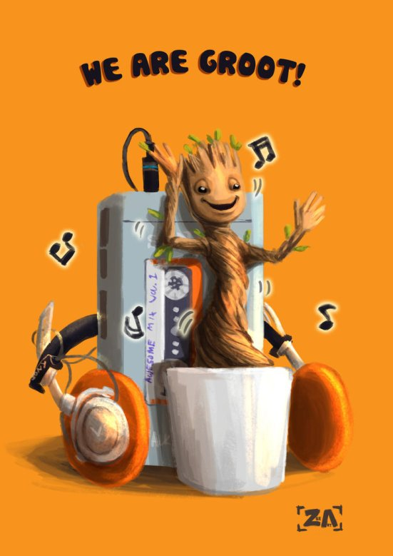 dancing_groot__by_zlynn-d7tmfn5