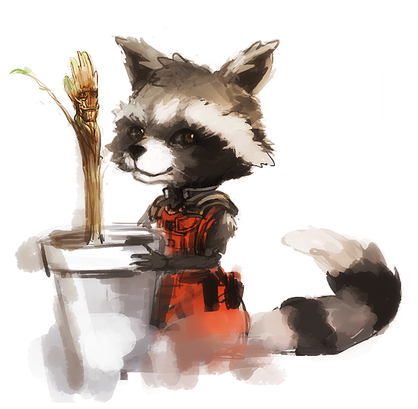 guardians_of_the_galaxy_rocket_groot_by_arneipia-d7t75tf