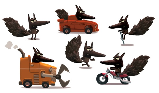 Wolf's vehicles