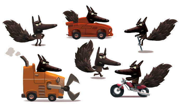 Wolf's vehicles