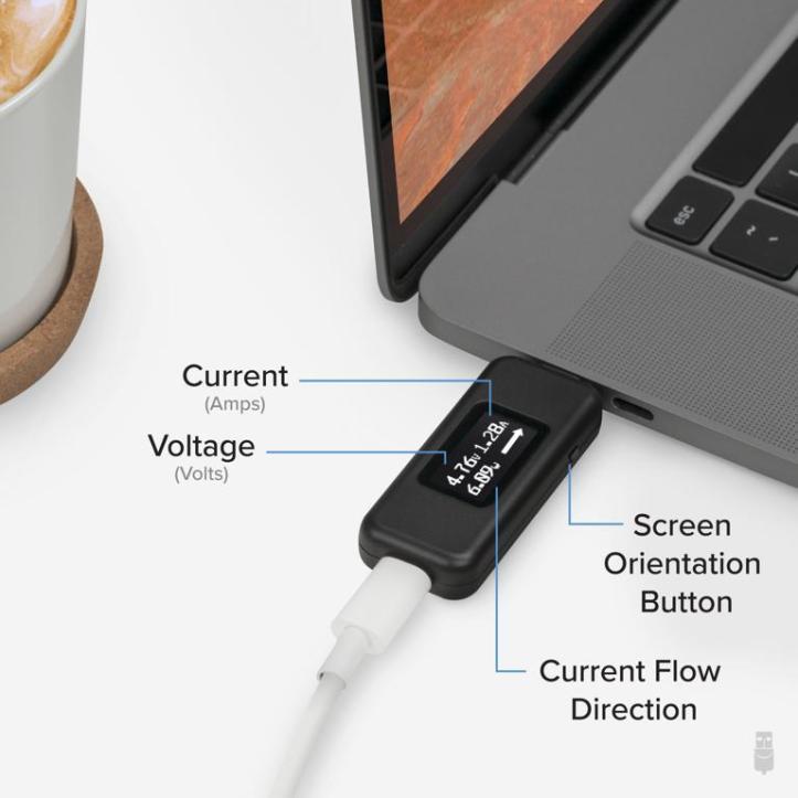 Plugable USB-C Voltage & Amperage Meter