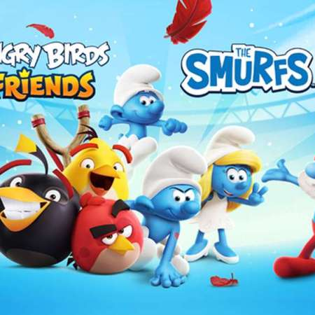Angry Birds Friends and The Smurfs