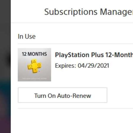 PS Plus Auto Renew